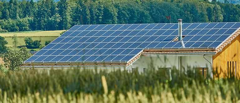 installed solar panel